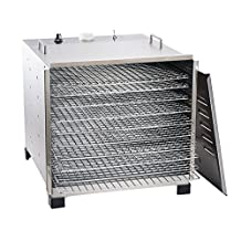 LEM Products 778A Stainless Steel 10 Tray Dehydrator with Timer