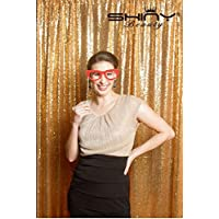 4FTX7FT Gold SEQUIN PHOTO BACKDROP, Select Your Size, Wedding Photo Booth,Photography Background,Ceremony Background