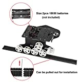 MOUNTAIN_ARK Tracked Robot Smart Car Platform Metal Aluminium Alloy Tank Chassis with Powerful Dual DC 9V Motor for Arduino Raspberry Pi DIY STEM Education Easy Assembly, 11.0x9.8x4.5inch, 3Lb