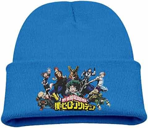 My Hero Academia Anime Warm Winter Hat Knit Beanie Skull Cap Cuff Beanie  Hat Winter Hats f842b464b4d5