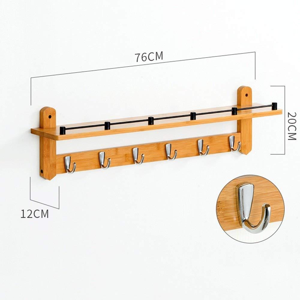 7620CM(6 hooks) DYR Coat Hanger Multifunction Solid Wood Wall Coat Hanger (Dimensions  76  20 cm (6 Hooks))