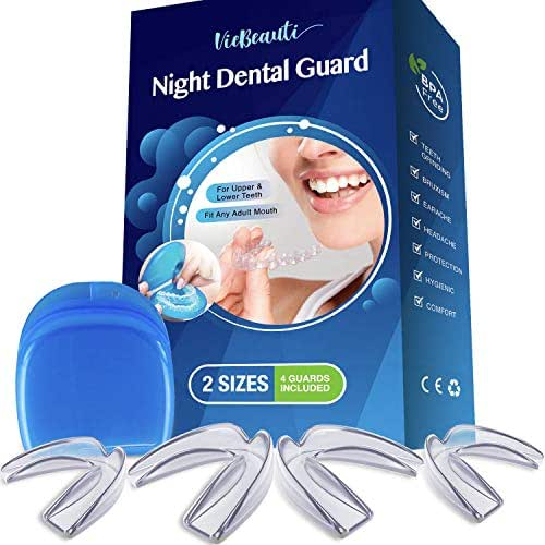 Teeth Grinding BPA/Latex Free Moldable Custom Dental Night Guards, FDA Approved, Upper & Lower Teeth, 3-in-1 Multi-Purpose Teeth Whitening Tray & Athletic Mouth Guard79