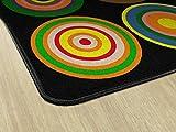 Flagship Carpets FE160-44A Color Rings Black