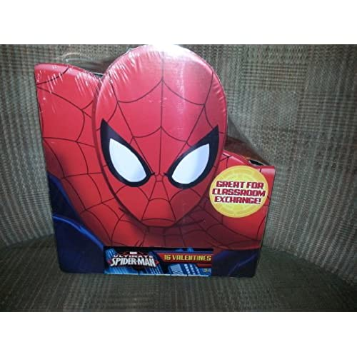 2013 Valentines Day Cards 16 Pack - Ultimate Spiderman (Spider-Man) By Paper Magic Group Sales