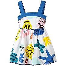 Fiream Girls Casual Cotton Print Sleeveless Dress