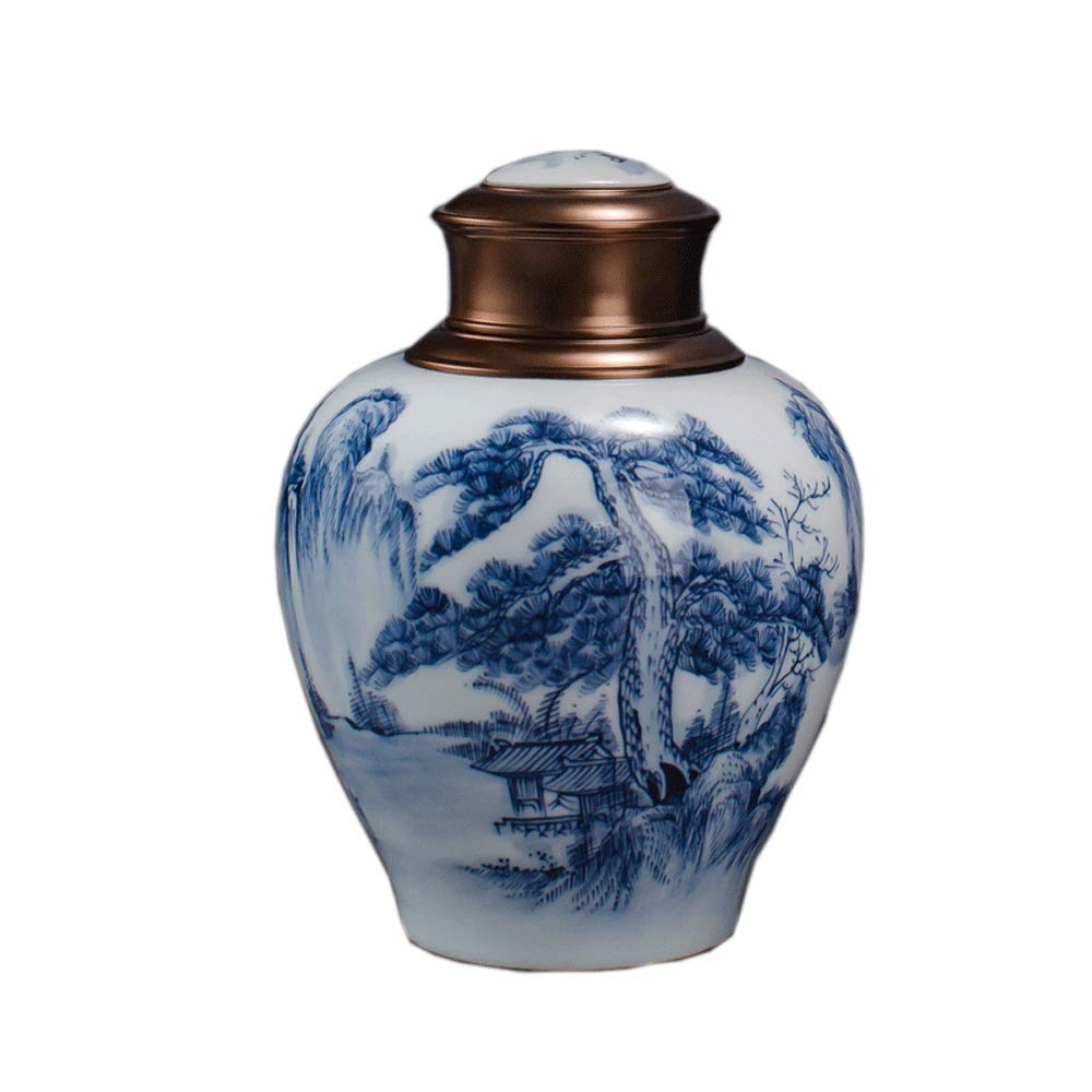 Tmendy Large 8.1  Ceramic cremation urn Sealed Against Moisture, Used for Ash of Humans or Pets