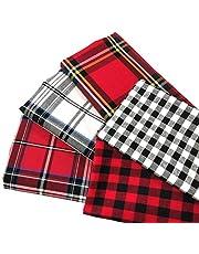 ZAIONE 100% Cotton Buffalo Plaid Tartan Fabric Yarn-Dyed Plaid Check Cloth Quilting Fabric for DIY Crafting Sewing Patchwork