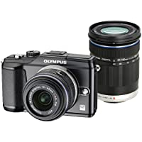 Olympus PEN E-PL2 Black with 14-42 II Black and ED 40-150mm Black M. Zuiko Lenses