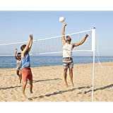 Volleyball Nets Badminton Net Tennis Soccer Tennis Pickleball Nets Garden Schoolyard Backyard Beach Driveway Outdoor Indoor Practice Net Competition Training Net Outdoor Court Sport with Carrying Bag