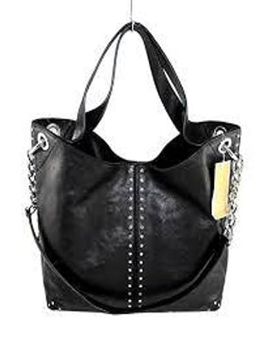e70e9496eb3f ... new style michael kors astor large satchel tote handbag in black  leather b650d 1ed73