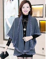 VU*LK Women's Pink/Red/Black/Yellow/Purple/Gray Coat , Casual Long Sleeve Wool/Cotton Blends , fuchsia , one-size
