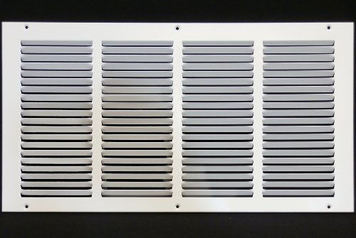 20 x 10 RETURN GRILLE - Easy Air FLow - Flat Stamped Face [bianca] by Metal-Fab