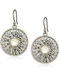 Women's Mother Of Pearl Drop Earrings, Silver, One Size