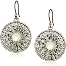 Lucky Brand Women's Mother Of Pearl Drop Earrings, Silver, One Size