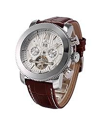 KS Automatic Mechanical Men's Leather White Dial Luxury Wrist Watch KS020