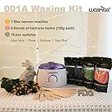 Waxkiss Wax Warmer Hair Removal Kit with Hard Wax Beans for Woman & Man Hard Wax Kits