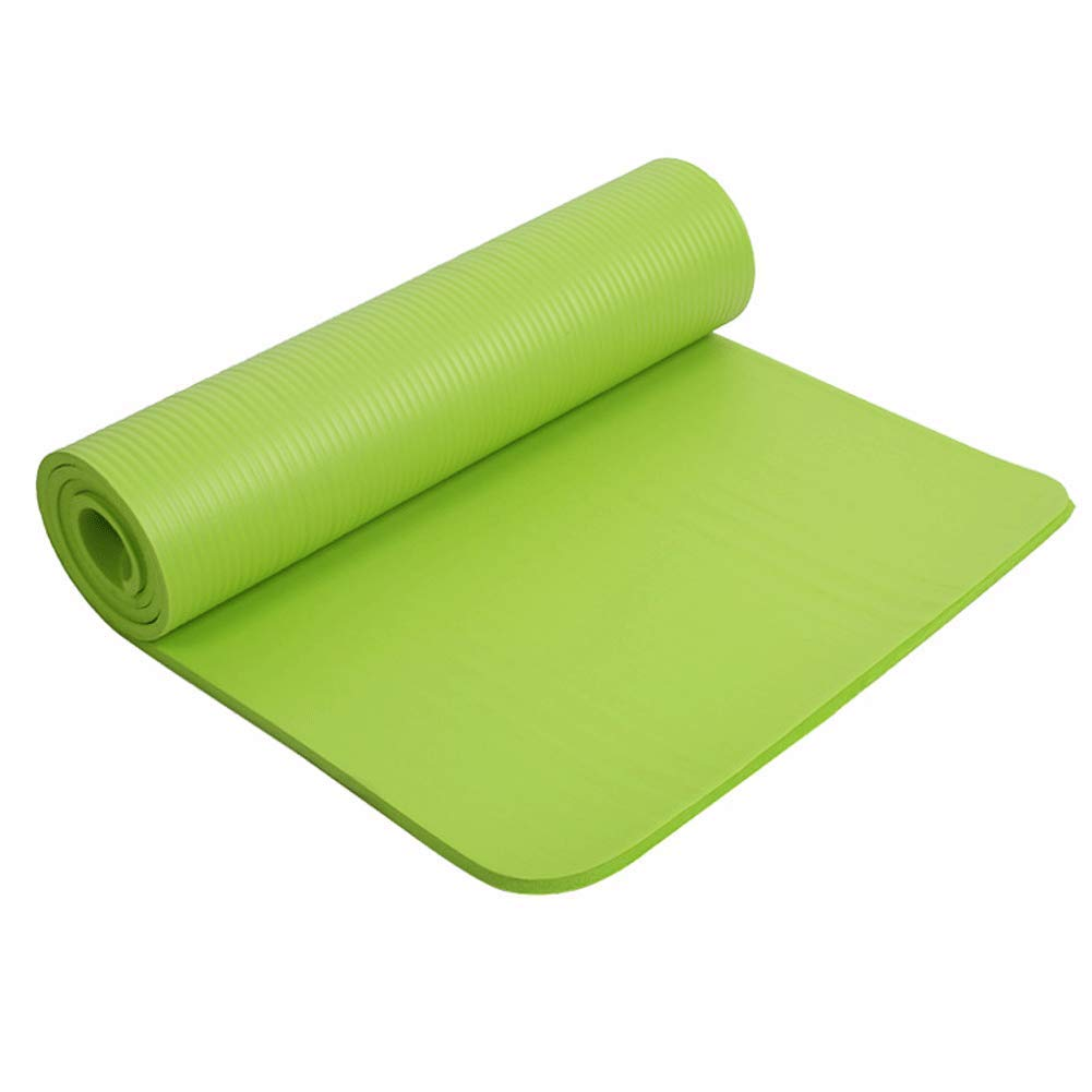 HEXIAOPENG, Tappetino Sportivo per Fitness, Yoga, Pilates, Cinghie Extra Spesse, Antiscivolo, Spessore, Tappetino da Yoga da 80 cm, Multi-Funzione, verde