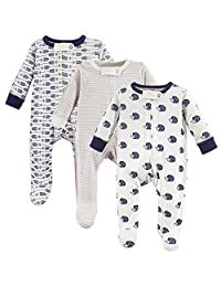 Touched by Nature Unisex-Baby Baby Organic Cotton Sleep and Play, 3 Pack