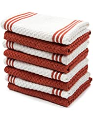 Sticky Toffee Cotton Terry Dishcloth Orange 8 Pack 12 In X 12 In