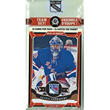 New York Rangers 2015 2016 O Pee Chee NHL Hockey Brand New Factory Sealed 15 Card Licensed Team Set Made By Upper Deck with Henrik Lundqvist Plus