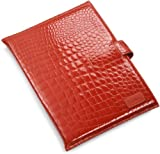 "Cole Haan Hand-Stained Patent Crocodile Print Kindle DX Sleeve (Fits 9.7"" Display, Latest and 2nd Generation Kindles), Orange"