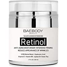 Baebody Retinol Moisturizer Cream for Face and Eye Area - With Retinol, Jojoba Oil, Vitamin E. Reduces Appearance of Wrinkles, Fine Lines. Best Day and Night Cream 1.7 Fl. Oz
