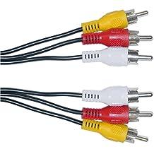 C&E RCA Audio/Video Cable, 3 RCA Male, 50 Feet CNE457715