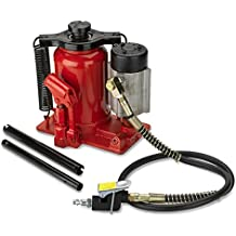 Tooluxe 31010L Low Profile Air Hydraulic Manual Bottle Jack, 20 Tons