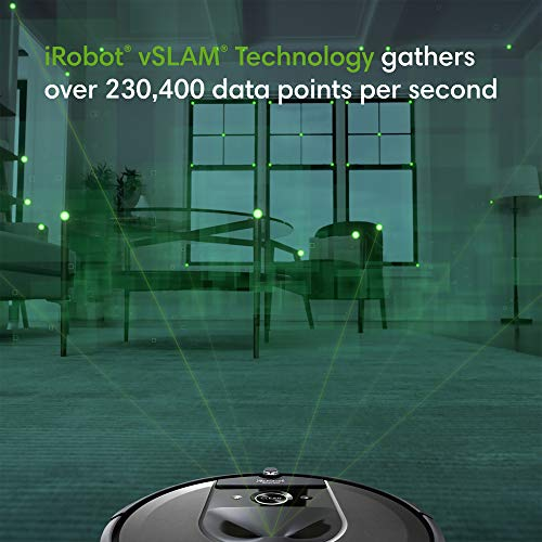 iRobot Roomba i7+ (7550) Robot Vacuum with Automatic Dirt Disposal-Empties Itself, Wi-Fi Connected, Smart Mapping, Works with Alexa, Ideal for Pet Hair, Carpets, Hard Floors, Black