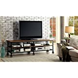"""HOMES: Inside + Out ioHOMES Engels Industrial 81"""" TV Stand, Medium Oak"""