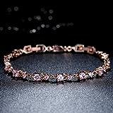WOSTU Luxury Slender Rose Gold Plated Bracelet with