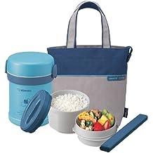 Zojirushi SL-MEE07 Ms. Bento Stainless-Steel Aqua Blue Vacuum Lunch Jar