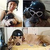 IAMUQ Dog Helmet, Cool Black Pet Hat Funny Dog