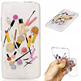 Qiaogle Phone Case - Soft TPU Silicone Case Cover Back Skin for Lenovo K3 K-30T A6000 (5.0 inch) - HC10 / Lip gloss + eyebrow pencil
