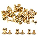 ACTENLY 36 Sets Gold 3 Sizes Sam Browne Solid Brass