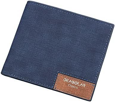 CKLT Men's Boy's Bifold PU Leather Minimalistic Slim Wallet