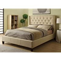 Coaster Furniture 300332KE Upholstered East King Bed In Beige Fabric