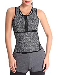 ff0ef460cc17b Women s Plus Size Waist Trainer Corsets Sport Girdle Belt Zipper Shapewear  Workout Vest Body Shaper