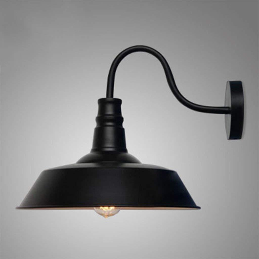 JINQD Home Beleuchtung der modernen minimalistischen Wandleuchte, Schmiedeeisen-Rost-Farbtopf-Wandleuchte-Flur-Café-Restaurt-Bar (36Cm  36Cm) , Hauptwand-Beleuchtung (Farbe   schwarz)