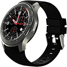TOOGOO(R) DM368 3G Android Smart Watch 1.39 inch Quad Core Bluetooth 4.0 Heart Rate Monitor(black)