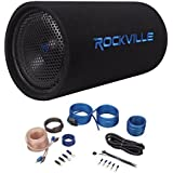 Rockville RTB10A 10 500w Powered Subwoofer +Bass Remote + Amp Kit
