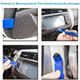 Kitbest Trim Removal Tool, 12Pcs Auto Panel Removal Tool Car Interior Trim Kit Fastener Rivet Remover Plastic Pry Tool for Automotive Radio Stereo Dash, Upholstery Toolkit