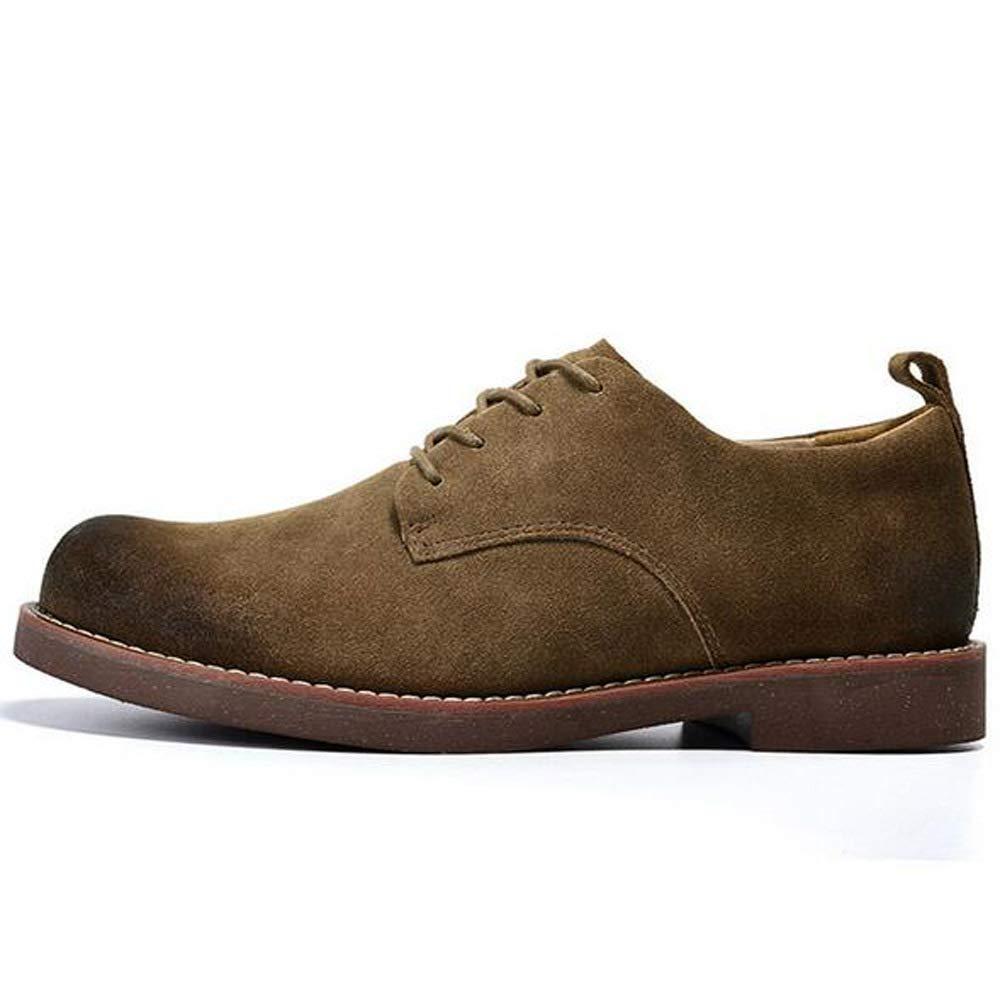 GZZ Schuhe Herren Martin Stiefel Herbst Und Winter Outdoor Casual Tooling Lederschuhe,braun-38