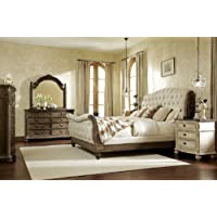 American Drew 598117 Jessica Mcclintock Boutique Sleigh Bed in Baroque-King, Beige
