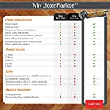 PlayTape Black Road - Road Car Tape Great for Kids, Sticker Roll for Cars Track and Train Sets, Stick to Floors and Walls, Quick Cleanup, Children Toys Birthday Gift