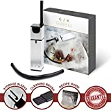 Gramercy Kitchen Co. Portable Smoke Infuser Bundle | Hand-held Smoking Gun Small Mini Kitchen Smoker for Meat & Cocktails | Indoor Food & Drink Smokers for Sous Vide Accessories | BONUS Storage Bag