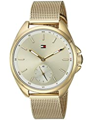 Tommy Hilfiger Womens SPORT Quartz and Stainless-Steel Casual Watch, Color:Gold-Toned (Model: 1781757)