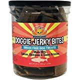 Premium Healthy Dog Jerky Treats | Grain Free Salmon Dog Treat Bites | Natural Snack Made with Salmon, Chickpeas & Sweet Potatoes | No Corn, Wheat or Soy