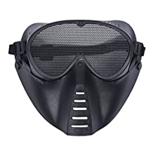 SODIAL(R) Airsoft BB Gun Paintball Mesh Face Goggle Protect Mask
