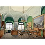 'Hau Edward Petrovich,Interiors of the Winter Palace,The Large Study of Emperor Nicholas I,1807-1887' oil painting, 8x11 inch / 20x28 cm ,printed on Perfect effect Canvas ,this High quality Art Decorative Canvas Prints is perfectly suitalbe for Kids Room decor and Home decoration and Gifts